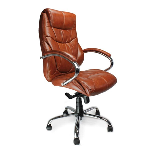 Ormsby High Back Executive Leather Office Chair 25 Stone